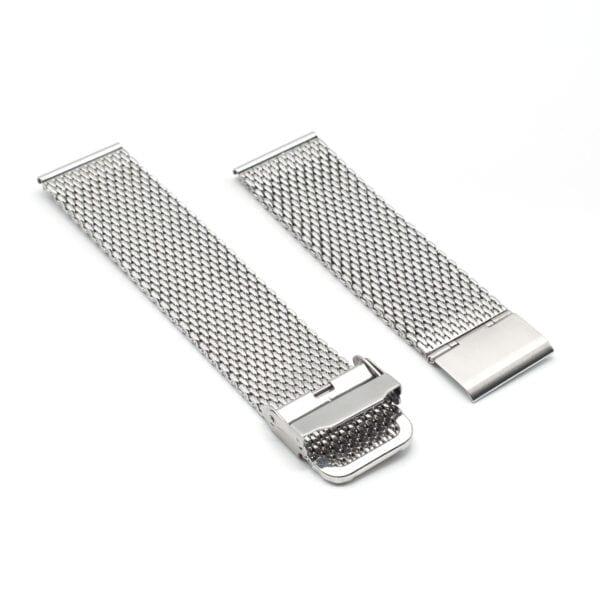 Kiber 22mm Mesh horlogeband schuin
